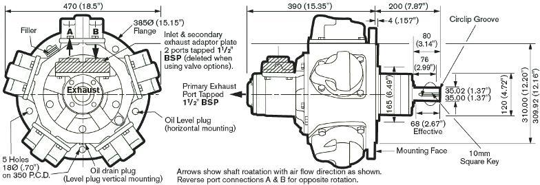 chertezh piston air motor 510 Globe